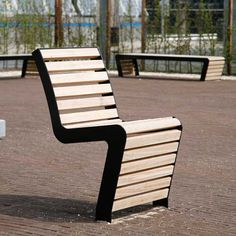 Outdoor Chairs, Outdoor Furniture, Outdoor Decor, Contemporary Chairs, Street Furniture, Welding Projects, Bench, Architecture, Playground