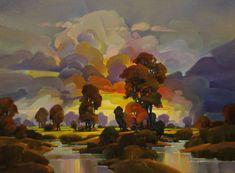 "Contemporary Painting - ""Fading Dawn"" (Original Art from Mac Stevenson)"