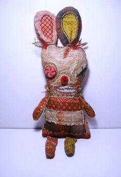Handmade Art Doll Monster Pepperminny by JunkerJane on Etsy