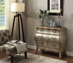 Silver Finish Bombay Chest