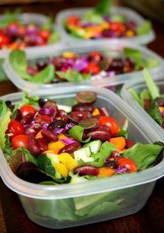 Fünf Salate, die eine Woche frisch bleiben. | 18 leckere und gesunde Gerichte, die Du super vorkochen kannst