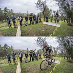 Before and after @midweekcycling's #TOCX presented by @batemansbikeco. Best cheering section in the game. #cyclocross #crossishere #bikeTO