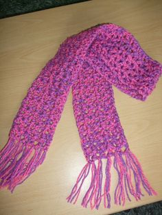For the scarf i used two strands of Twilight Double Knitting yarn, one in purple and one in pink. I used size 5mm hook (uk) size. Scarf With...