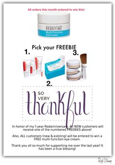 Take advantage of my FREEBIE all month long in MARCH 2015.  Isn't it time you LOVED your skin?!? Message me to get started!