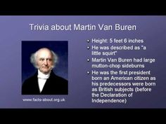 The American President series profiles the 8th president of the United States, Martin Van Buren. Description from wn.com. I searched for this on bing.com/images