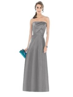 Alfred Sung Bridesmaid Dress D513 - quarry