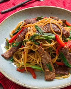 your recipes: Mongolian Beef Pasta !