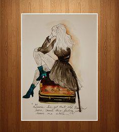 """Old Travelin' Bone"" Print"