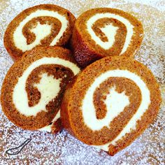 The perfect holiday treat for Thanksgiving or Christmas! Classic Pumpkin Roll is like a Pumpkin Swiss Roll or Roulade made with Pumpkin Pie Spice, generously slathered with vanilla bean cream cheese.