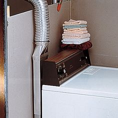 Dryer Periscope Ventmove the dryer within of your wall.Extends from to two styles: angle or straight Laundry Room Shelves, Laundry Room Remodel, Laundry Room Cabinets, Laundry Closet, Small Laundry Rooms, Laundry Storage, Laundry Room Design, Garage Laundry, Laundry Area