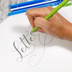 Pencil lettering using Tombow's Ippo Pencil Bullet Journal Font, Journal Fonts, Journaling, Calligraphy Drawing, Calligraphy Letters, Hand Lettering Alphabet, Brush Lettering, Dog Pen, Creative Lettering