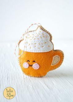 PDF Muster Pumpkin Spice Latte Halloween von sosaecaetano auf Etsy