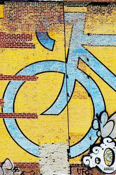 Wall Bike Licensing Art Print By Anahi Decanio