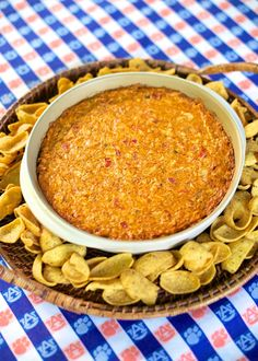 Chicken Enchilada Dip {Football Friday} | Plain Chicken