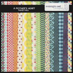 Quality DigiScrap Freebies: A Mother's Heart paper pack freebie from Midnight Owl Designs