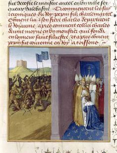 Bataille de Laon et couronnement de Pépin le Bref en 754