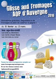affiche GLISSE AND FROMAGES AOP D
