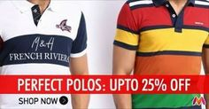 Mega Online Sale: Myntra Deal Pack Of 2 Polo T-Shirts at Just Rs.749