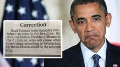 Cerca a la Medianoche: Twitter: Barack Obama no es el anticristo, corrige...