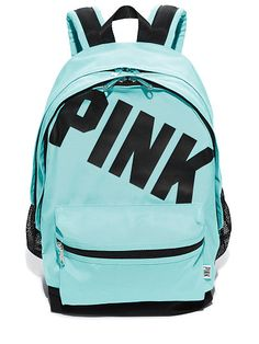 VS PINK Campus Backpack in Teal Breeze-I REEEAAAALLLLLLLLLLLYYYYY want this backpack for this next school year!!!