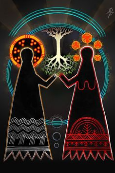 "Ancient Slavic myth ""Walk through a year"" explained in beautiful collages of Maksim Sukharev Lago Baikal, Bohemian Wall Tapestry, Native American Images, Pagan Art, Beautiful Collage, Sacred Feminine, Aboriginal Art, Conte, Wicca"