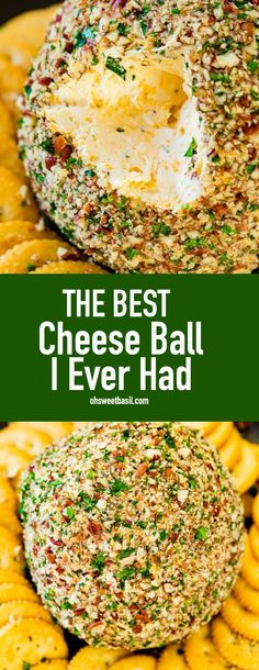 I had no idea that a cheese ball could be this good. Last year I had the best cheese ball I ever had and now I get to share how crazy easy this appetizer is! appetizers for dinner The Best Cheese Ball I Ever Had - Oh Sweet Basil Easy Appetizer Recipes, Appetizers For Party, Dinner Recipes, Cheese Appetizers, Appetizers For Thanksgiving, Christmas Party Appetizers, Best Thanksgiving Recipes, Easy Holiday Recipes, Appetizer Ideas