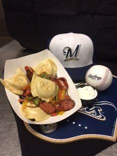 Potato & Cheese Pierogis for the Pirates series! #Brewers
