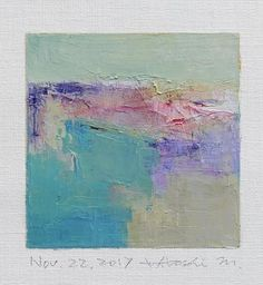 Nov. 22 2017 Original Abstract Oil Painting 9x9 painting