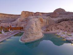 Aman   Journal   Construct London Amangiri Resort Utah, Amangiri Hotel, Hotel Swimming Pool, Hotel Pool, Usa Swimming, Hotel Spa, Lake Powell, Hotels And Resorts, Best Hotels