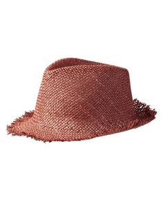 Foldaway straw hat by Maison Scotch