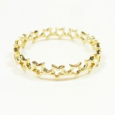 Multi stars loop gold plated 750/°°° - Delphine Pariente * From Paris of course. Le sigh.