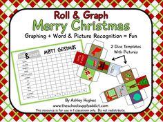 FREE Roll & Graph (Merry Christmas version): PreK-3+EFL