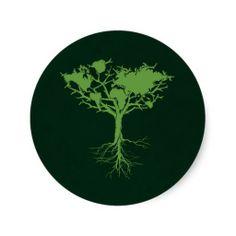 Earth tree Sticker