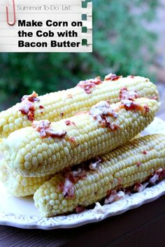 I can personally confirm that this is amazing! > Corn on the Cob with Bacon Butter - RecipeBoy.com #summer #recipe #bacon