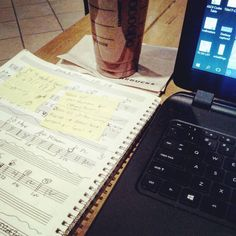 My office for the evening.  #writing #takenotes #music #coffeeshop #myoffice #thisiswhatido #creative #makemusic #makingmusic #imakemusic #instamusic #musician #musicians #musica #sheetmusic #selfpublish #composer #musiccomposer #arranger #engraver #forhire #writer #starbucks #writesomething #manuscript #classical #jazz #rocknroll #indiemusic #classicalmusic by rrrrogelio