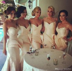 Free shipping, $82.47/Piece:buy wholesale bridesmaid gown with sweetheart neck peplum slim mermaid women party gown light pink sheath wedding guest dresses of 2014 Spring Summer,Sweep Train,Reference Images,Zipper,Satin from DHgate.com, get worldwide delivery and buyer protection service.