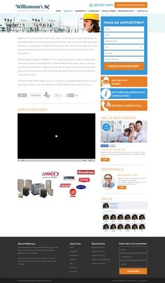Air Conditioning Service Website Design by radhivin