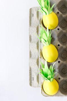 Ovos de Páscoa decorados em forma de furta tropical | Eu Decoro