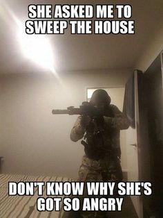 Military and army are the backbone of defense fro any country but as you know us, we are not here to discuss any thing like this , let us show you a collection of Top 20 military memes funny army that are so hilarious. Memes Humor, Funny Memes, Hilarious, Gun Humor, Wife Humor, Funniest Memes, Humor Quotes, Military Jokes, Army Humor