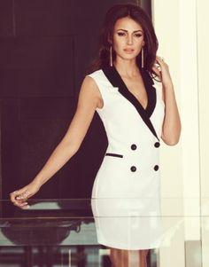 Michelle Keegan Tux Dress