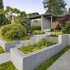 concrete retaining wall More