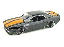 1969 Chevy Camaro 1/24 Black w/ Orange Stripes