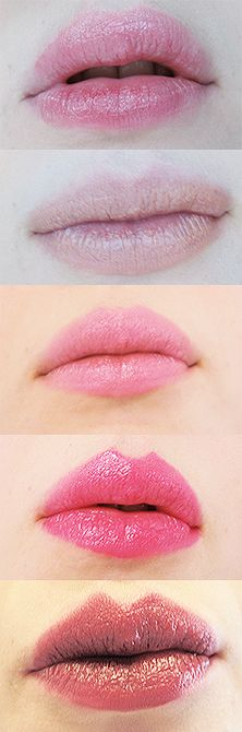 Lip stick colours.   I love the heart shape of their lips
