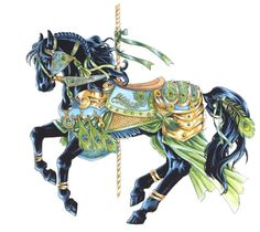 Peacock Carousel Horse Cross Stitch Pattern***l@@k***~~ I Send World-wide ~~free