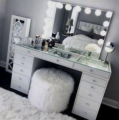SlayStation® Pro Tabletop + Vanity Mirror + 5 Drawer Units Bundle - Impressions Vanity Co. - SlayStation® Pro Tabletop + Vanity Mirror + 5 Drawer Units Bundle – Impressions Vanity Co. Sala Glam, Vanity Room, Bedroom Vanities, Vanity Mirrors, Dresser Mirror, Vanity Chairs, Mirror Bedroom, Vanity Set With Mirror, Closet Vanity