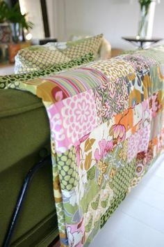 Amy Butler Lotus Fabrics with the Lotus Brick Path Quilt - free pattern!