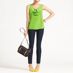 Denim and leather Kate Spade - on sale $132