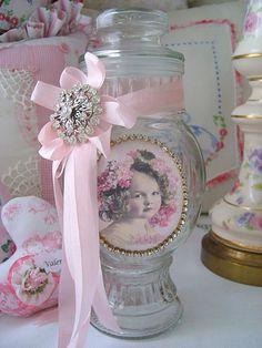 Sweet Child Embellished Apothecary Jar by sweetnshabbyroses, via Flickr