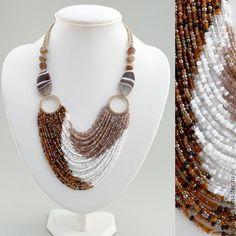 Margareta B Design Websitewith Seed Bead Necklace, Seed Bead Jewelry, Bead Jewellery, Diy Necklace, Necklace Designs, Wire Jewelry, Jewelry Crafts, Jewelery, Jewelry Necklaces