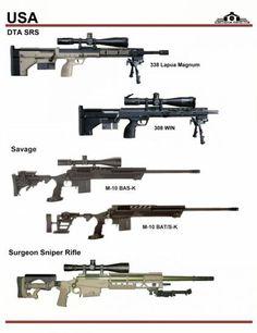США: DTA SRS, Savage M-10, Surgeon Sniper Rifle Weapons Guns, Guns And Ammo, Real Steel, Snipers, Fire Powers, Assault Rifle, Cool Guns, Military Weapons, Modern Warfare